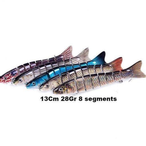 Leurre dur Swimbait 13Cm 28Gr 8 segments