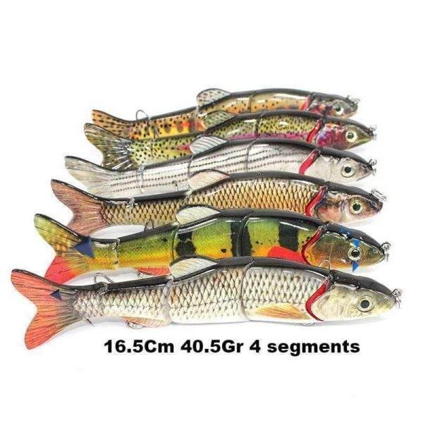 Leurre dur Swimbait 16.5Cm 40.5Gr 4 segments
