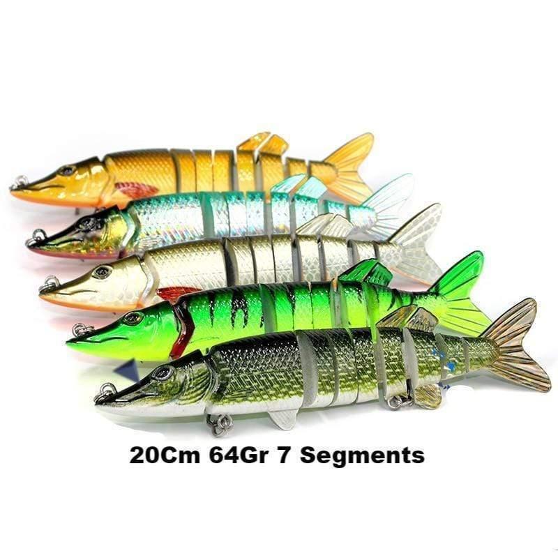 Leurre dur Swimbait 20cm 64g 7 segments Brochet Muski