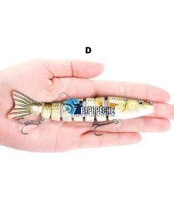 Leurre dur Swimbait réaliste 13cm 19.5g 8 segments