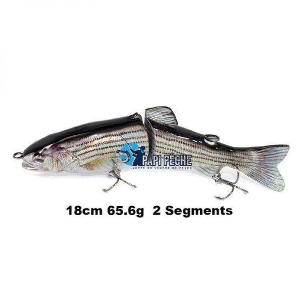 Leurre dur Swimbait 18cm 65.6g  2 Segments