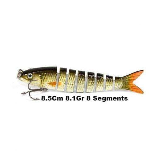 Leurre dur swimbait 8.5Cm 8.1Gr 8 Segments